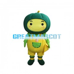 Green Pumpkin Baby With Yellow Pants Mascot Costume