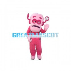 Big Head Pink Logger Vick Mascot Costume
