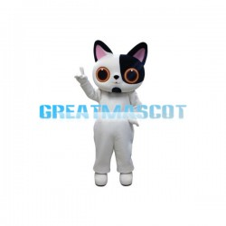 Black & White Face Little Cat Mascot Costume