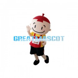 Smiling Face Little Boy Mascot Costume
