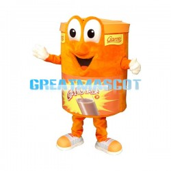 Orange Chocolate Drink Jar Mascot Costume