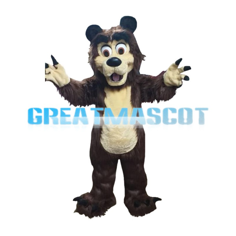 Long Fur Lion With Sharp Claws Mascot Costume