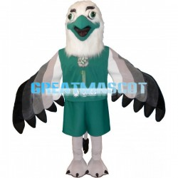 Green Beak White Head Eagle Mascot Costume