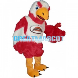 Long Fur Red & White Eagle Mascot Costume