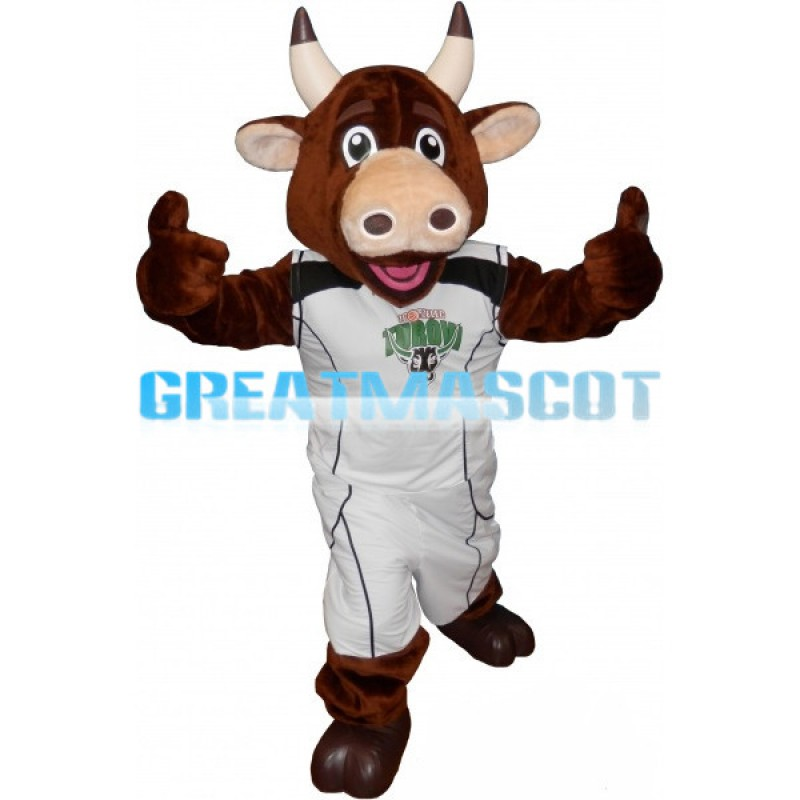 Adult Bull Mascot Costume For Sports Competition