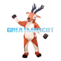 Elegant Beautiful Brown Sika Deer Mascot Costume