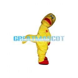 Interesting Cartoon Yellow Crooked Dinosaur Mascot Costume