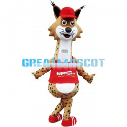 Strange Look Funny Giraffe With Red Top Mascot Costume
