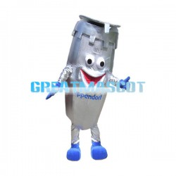 Silver Cartoon Refrigerated Centrifuge Mascot Costume