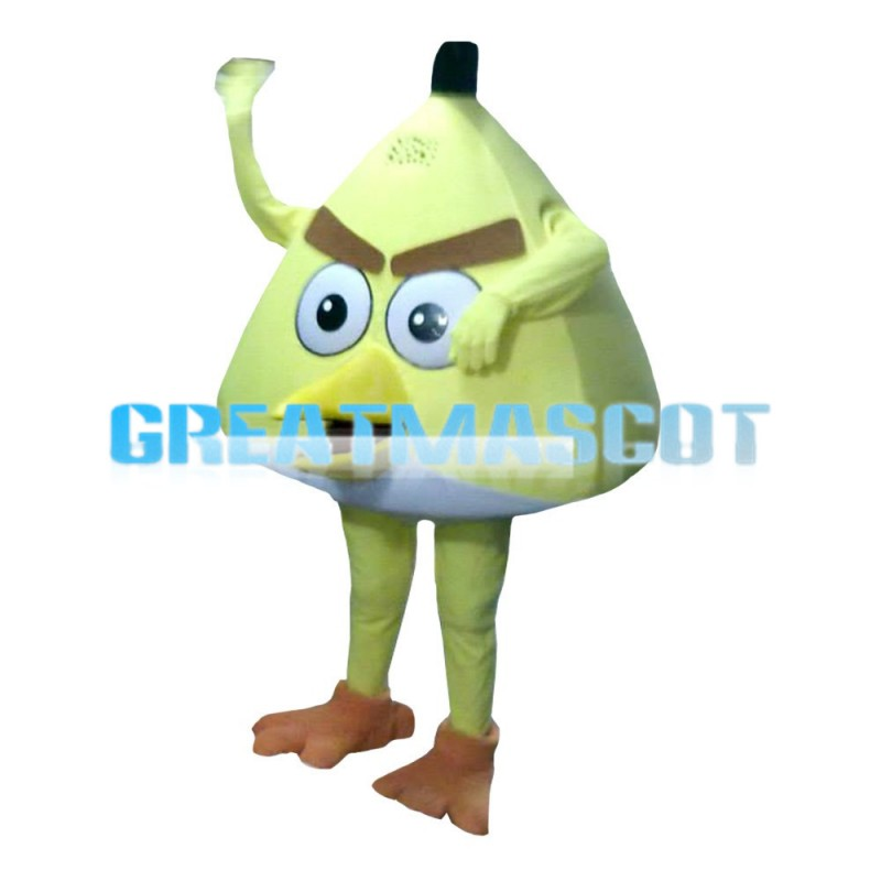 Triangular Yellow Angry Bird Mascot Costume