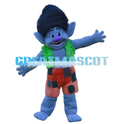 Branch Trolls With Gray Green Skin Mascot Costume