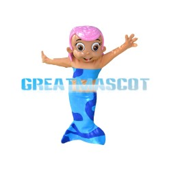 Pink Hair Blue Mermaid Mascot Costume