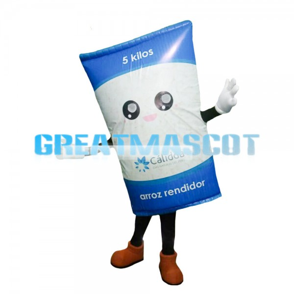 Blue Rice Bag Mascot Costume