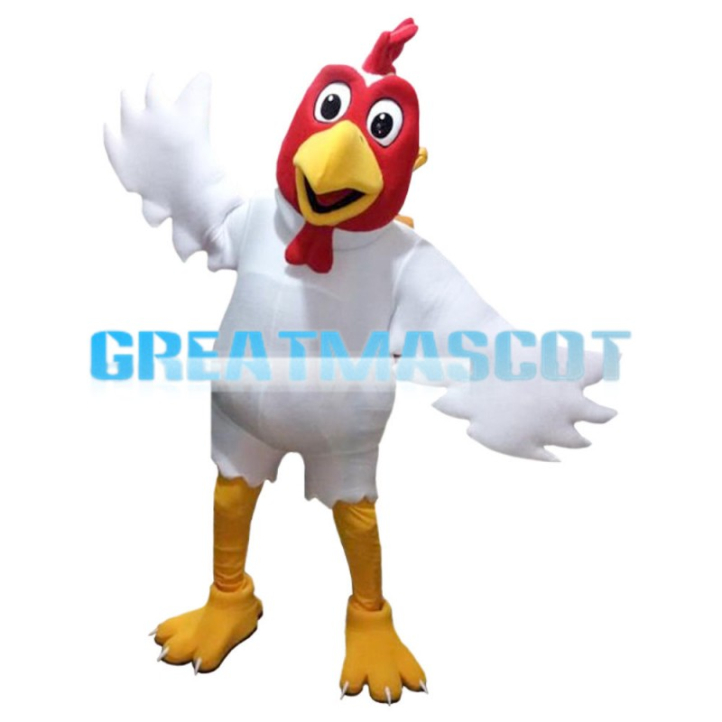 Flapping White Chicken Mascot Costume