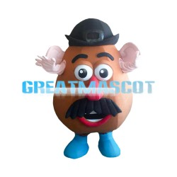 Cartoon Brown Coffee Bean Mascot Costume