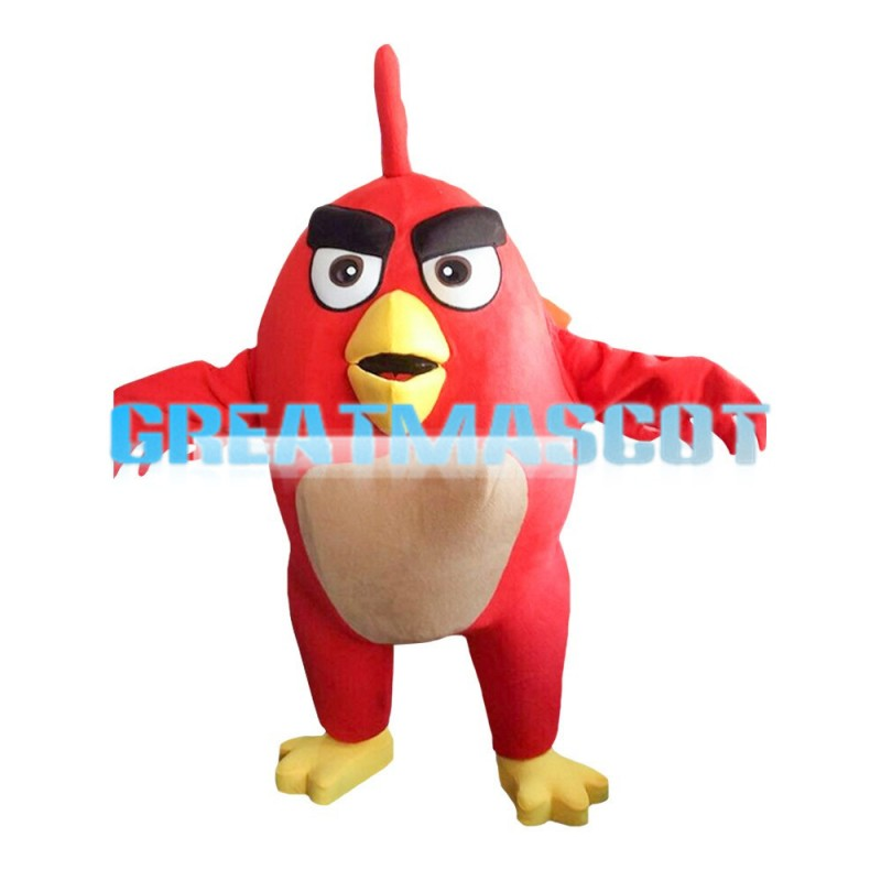 Oval Body Red Angry Bird Mascot Costume