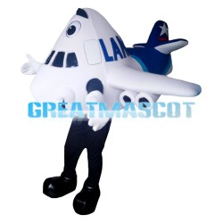 Cartoon White Airliner Mascot Costume
