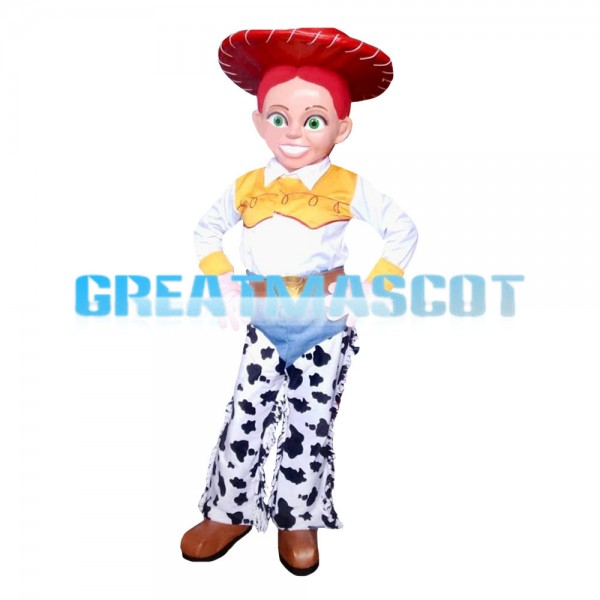 Hard-working Milkmaid With Red Hat Mascot Costume