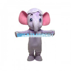 Cute Purple Elephant Lightweight Mascot Costume For Adult