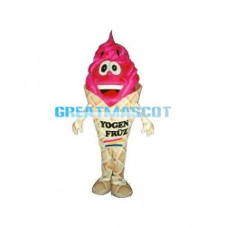 Cartoon Ice Cream Cone Mascot Costume For Halloween Party