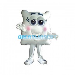 Shy Cartoon Tooth Lightweight Mascot Costume For Halloween Party
