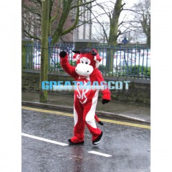 Adult Size Cartoon Red Bull Mascot Costume