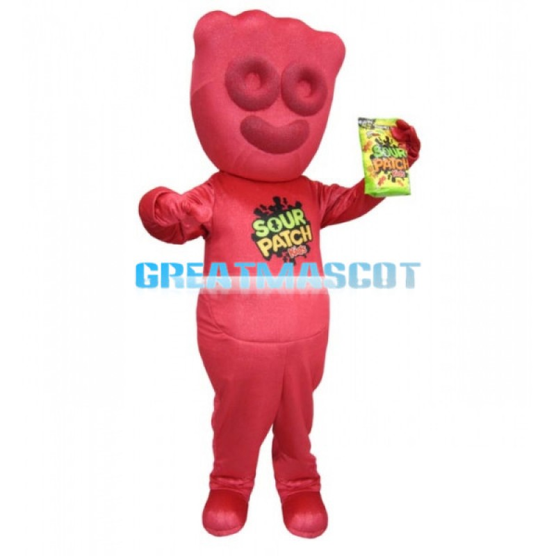 Adult Size Cartoon Red Sour Patch Kids Mascot Costume