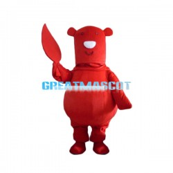 Cute Cartoon Red Bear Lightweight Mascot Costume For Adult