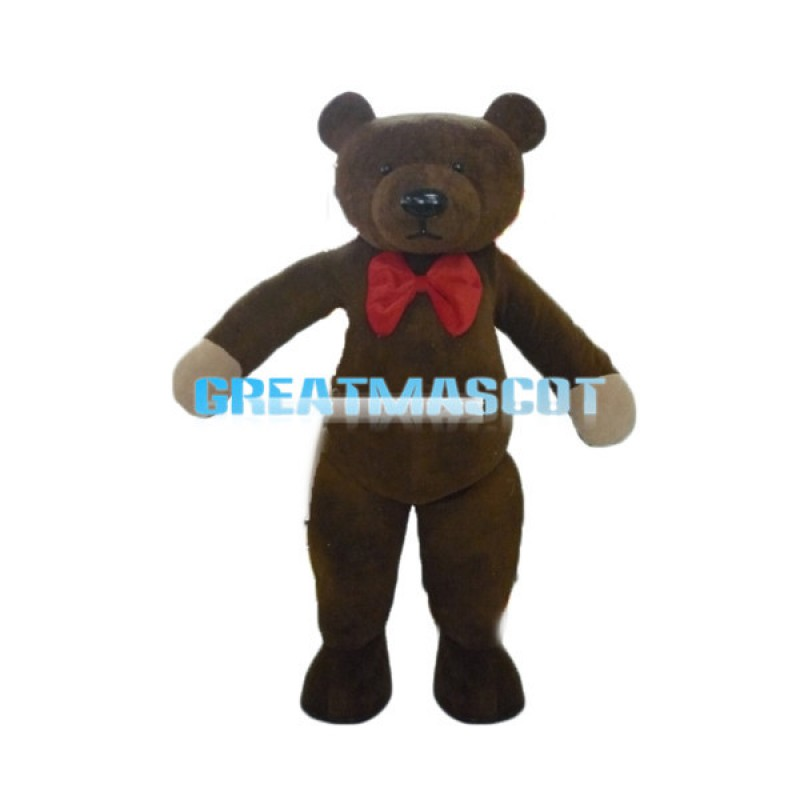 Brown Teddy Bear Mascot Adult Costume For Holiday Party