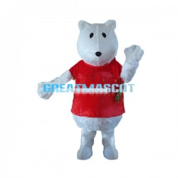 Cute Cartoon White Bear Lightweight Mascot Costume For Adult