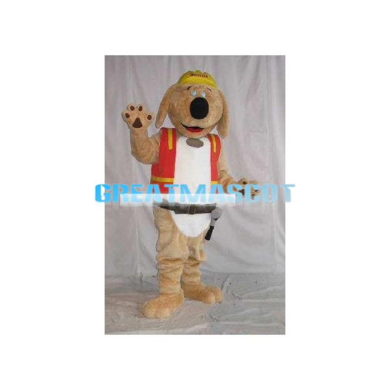 Lovely Scout the Dog Mascot Adult Costume