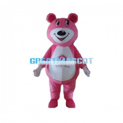 Cute Cartoon Pink Bear Lightweight Mascot Costume For Adult