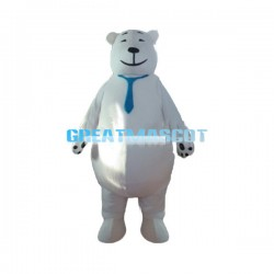 Adult Cartoon White Bear Lightweight Mascot Costume