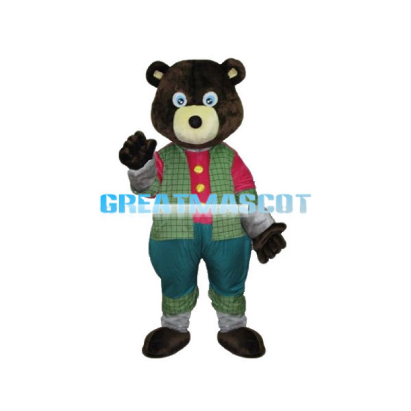 Friendly Cartoon Black Bear Mascot Costume