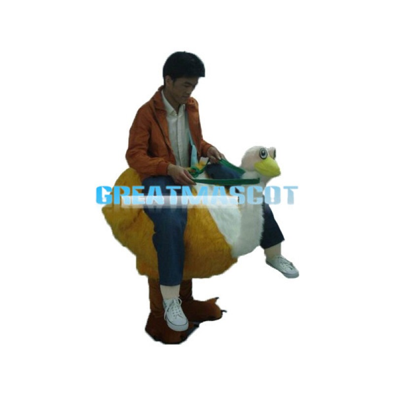 Carry Me Ride On Yellow Ostrich Costume For Oktoberfest