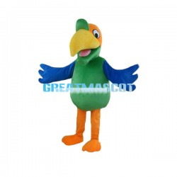 Adult Size Cartoon Colorful Bird Mascot Costume