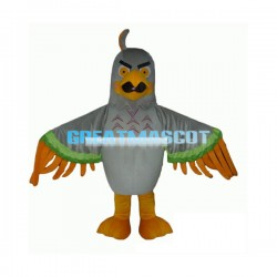 Fierce Grey Eagle Lightweight Mascot Costume Adult Size