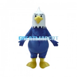 Angry Cartoon Blue Eagle Mascot Adult Animal Costume