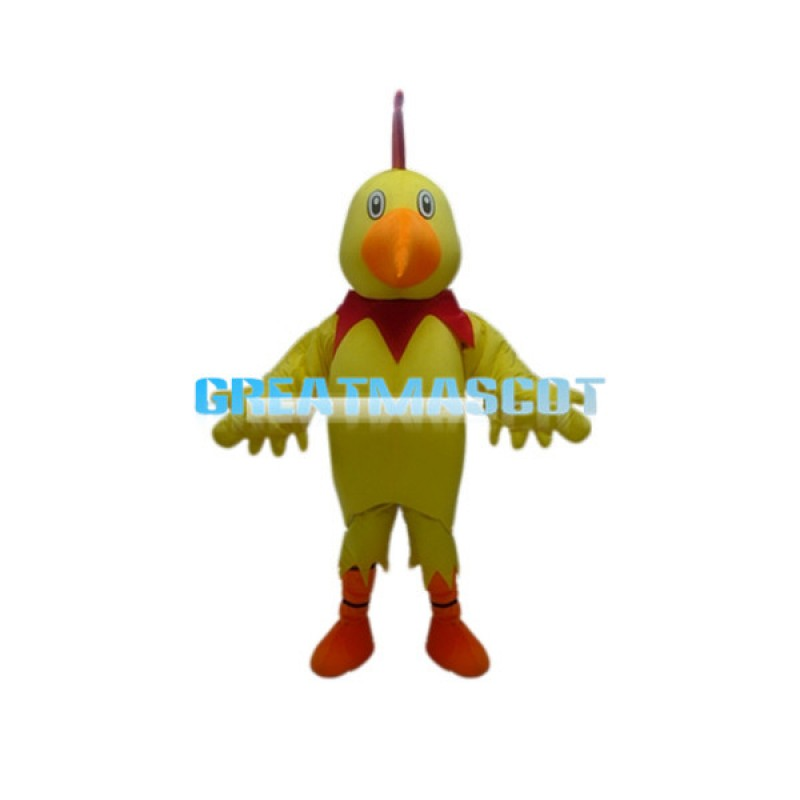 Adult Size Cartoon Yellow Bird Mascot Costume