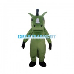 Adult Cartoon Green Horse Mascot Costume