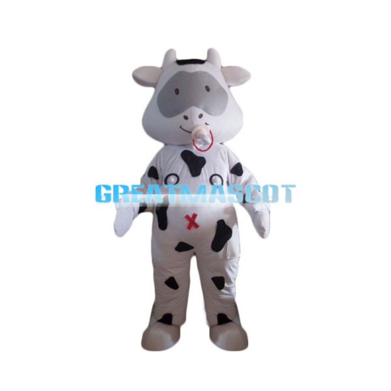 Cute Cartoon Baby Cow With Nipple Mascot Costume