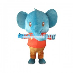 Cute Cartoon Blue Elephant Lightweight Mascot Adult Costume