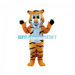 Cute Tiger Mascot Costume Adult Size