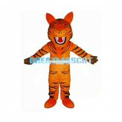 Adult Size Cartoon Open-mouthed Tiger Lightweight Mascot Costume