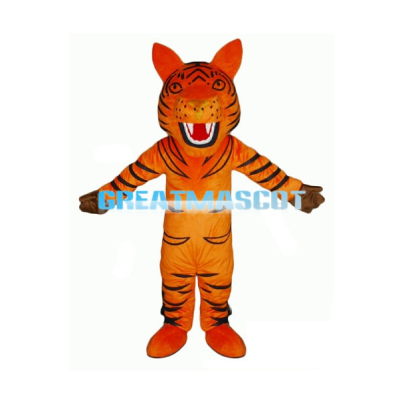 Howling Cartoon Orange Tiger Lightweight Mascot Adult Costume