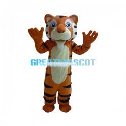 Friendly Tiger Mascot Costume Adult Size