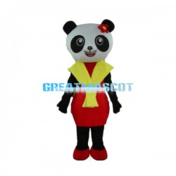 Happy Lady Panda Mascot Costume