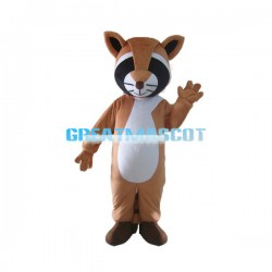 Cute Brown Raccoon Mascot Costume For Adult