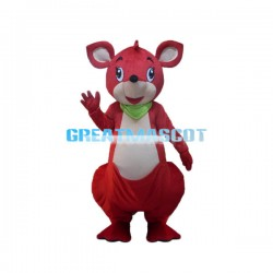 Cute Cartoon Red Mouse Mascot Costume Adult Size Animal Costume