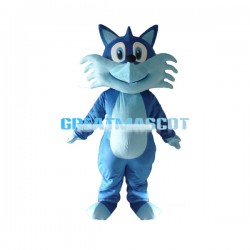 Cute Cartoon Blue Fox Mascot Costume Adult Size